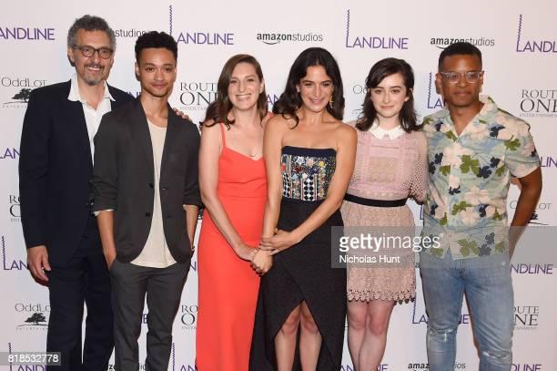 John Turturro Marquis Rodriguez Gillian Robespierre Jenny Slate Abby Quinn and Jordan Carlos attend the 'Landline' New York Premiere at The...