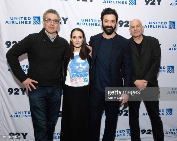 John Turturro Winona Ryder Morgan Spector and David Simon attend a screening of HBO's The Plot Against America presented by 92Y Poetry Center at 92nd...