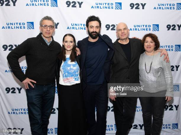 John Turturro Winona Ryder Morgan Spector David Simon and Nina K Noble attend a screening of HBO's The Plot Against America presented by 92Y Poetry...