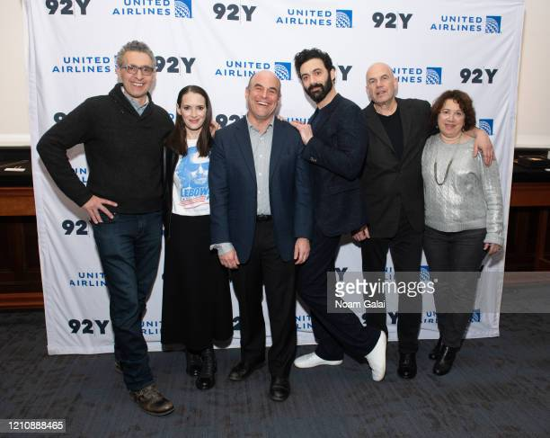 John Turturro Winona Ryder Peter Sagal Morgan Spector David Simon and Nina K Noble attend a screening of HBO's The Plot Against America presented by...