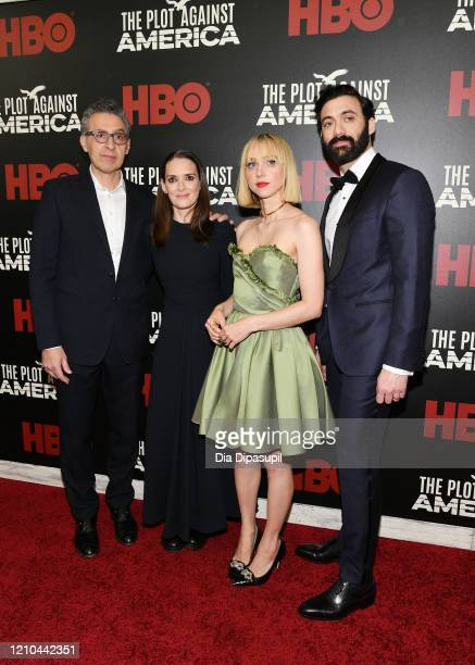John Turturro Winona Ryder Zoe Kazan and Morgan Spector attend HBO's The Plot Against America premiere at Florence Gould Hall on March 04 2020 in New...