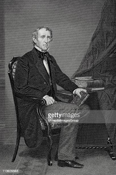 John Tyler 1790 to 1862 10th president of the United States 1841 to 1845 From painting by Alonzo Chappel