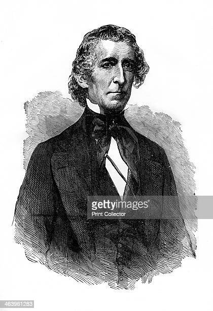 John Tyler tenth President of the United States Tyler was president from 1841 to 1845 Engraving from A Child's History of the United States by John...