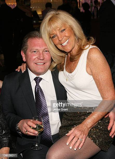John Unwin and guest attend a cocktail party held at The Cosmopolitan Hotel on December 30 2010 in Las Vegas Nevada