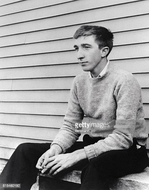 John Updike young author of The Poorhouse Fair which will receive the $1000 Rogenthal award for the novel of the National Institute of Arts and...