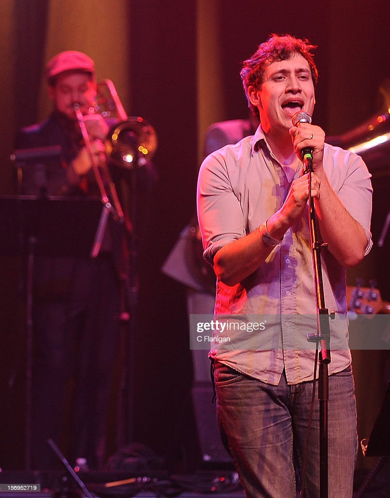 John Van Deusen of The Lonely Forest performs at The Last Waltz Tribute Concert at The Warfield Theater on November 24, 2012 in San Francisco, California.