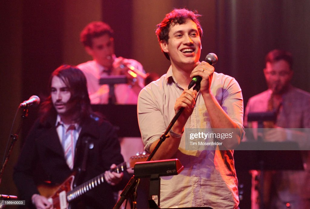 John Van Deusen of The Lonely Forest performs during The Last Waltz Tribute Concert at The Warfield on November 24, 2012 in San Francisco, California.