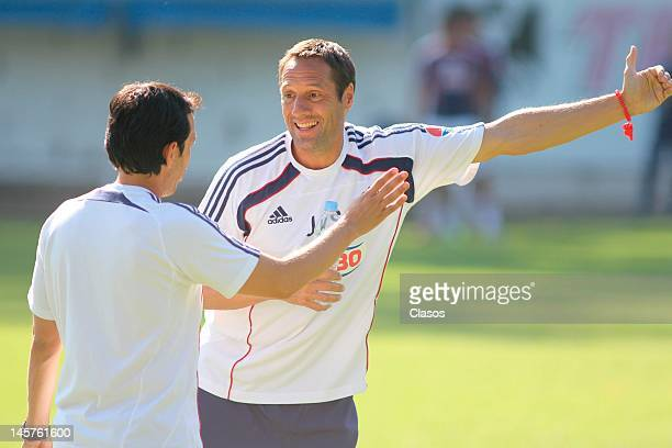 John Vant Schip coach of Chivas in action during a training session at Club Verde Valle on June 04, 2012 in Zapopan, Mexico.