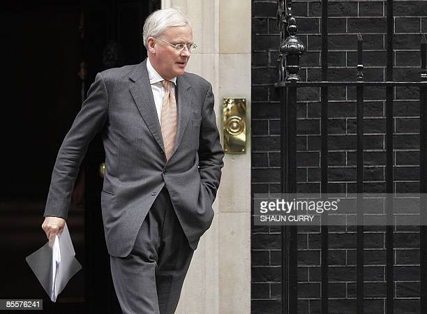 John Varley Chief Executive of Barclays leaves 10 Downing Street in central London on March 24 after a meeting with other banking executives British...