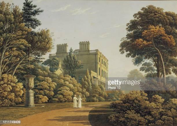 John Varley English school Higham House in Woodford 19th century England, Bourne Gallery.