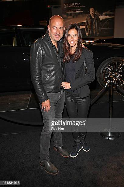 John Varvatos and wife attend GQ Chrysler And John Varvatos Celebrate The Launch Of The 2013 Chrysler 300C on September 11 2012 in New York City