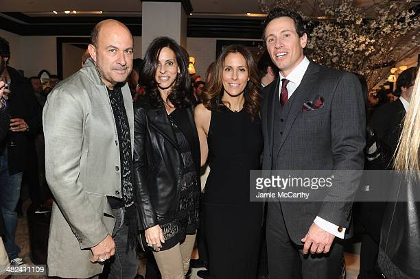 John Varvatos Joyce Zybelberg Varvatos Cristina Cuomo and Chris Cuomo attend the Opening Of John Varvatos Madison Avenue on April 3 2014 in New York...