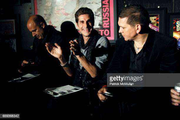 John Varvatos Perry Farrell and Mark DiDia attend JOHN VARVATOS STAR USA host Free The Noise party at John Varvatos 315 Bowery on September 15 2009...