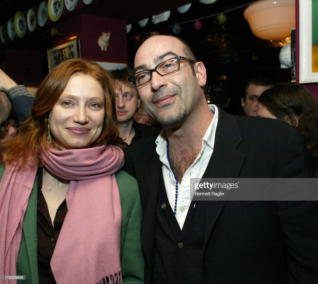 John Ventimiglia(r) and Natalya Vidokle during New York Magazine and nymag.com's 2nd Annual Oscar Viewing Party at The Spotted Pig in New York City, New York, United States.