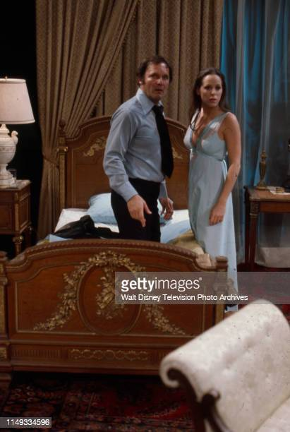 John Vernon Louise Sorel appearing on the ABC tv series 'The Wide World of Mystery' episode 'Nightmare Step'
