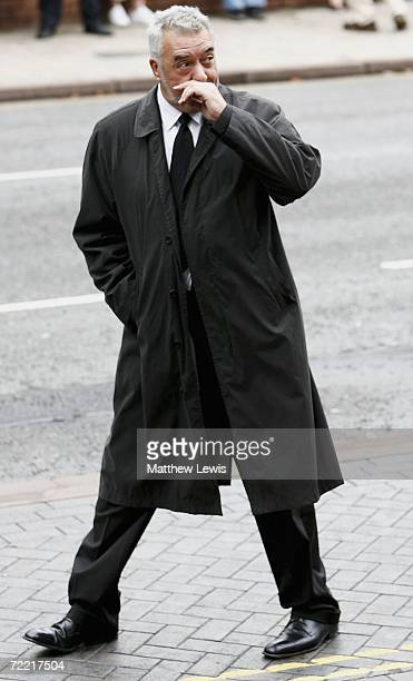 John Virgo attends the funeral of Paul Hunter at Leeds Parish Church on October 19 2006 in Leeds England The threetime Masters champion lost his...