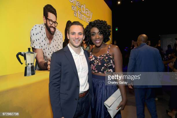 John Volk and Malynda Hale attend Strong Black Lead party during Netflix FYSEE at Raleigh Studios on June 12 2018 in Los Angeles California