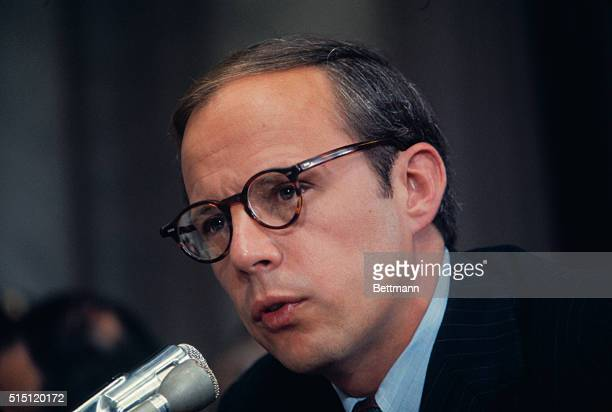 John W Dean III appears before the Senate Watergate Committee for the second day of testimony Dean told the group that he believed President Nixon...