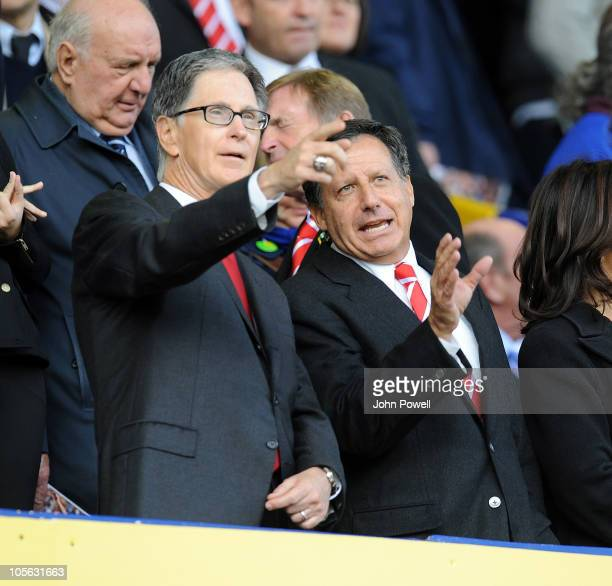 John W Henry, new owner of Liverpool FC during the Barclays Premier League match between Everton and Liverpool at Goodison Park on October 17, 2010...