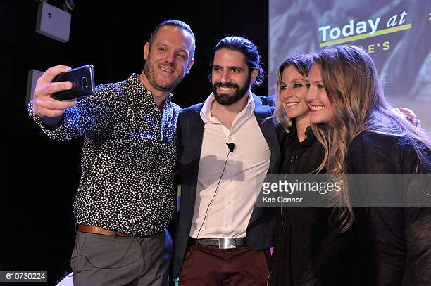 John Wagner Jon Levy Carla Sosenko and Amanda Morrison pose onstage at the From Influence to Action The Best Brand Advocates Advertisers Still Ignore...