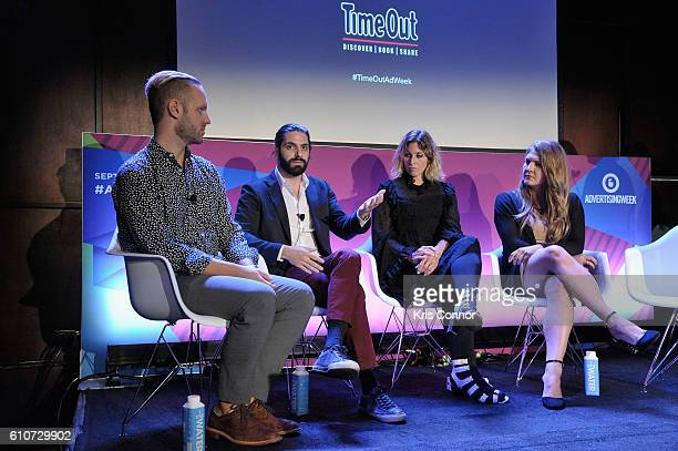 John Wagner Jon Levy Carla Sosenko and Amanda Morrison speak onstage at the From Influence to Action The Best Brand Advocates Advertisers Still...