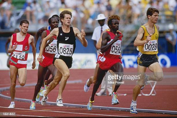 John Walker of New Zealand in action during the heats of the 1500 metres at the Commonwealth Games in Auckland New Zealand Mandatory Credit Mike...