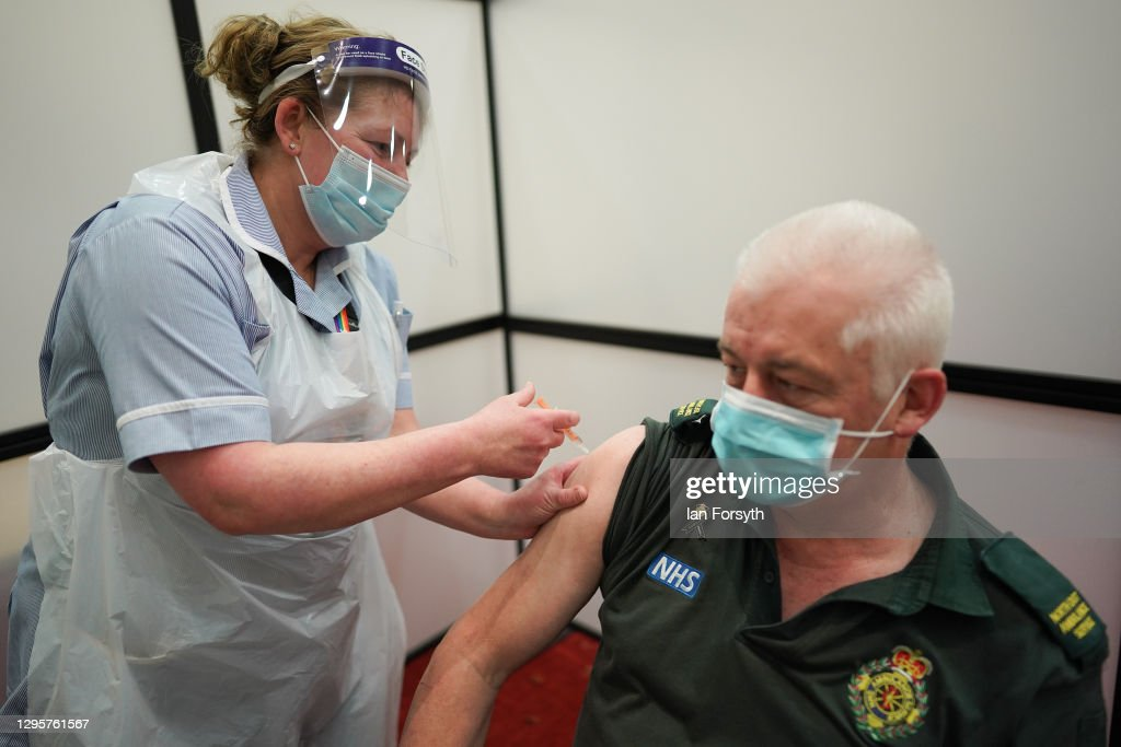 Covid-19 Mass Vaccination Site Opens At Newcastle's Int'l. Centre For Life : News Photo