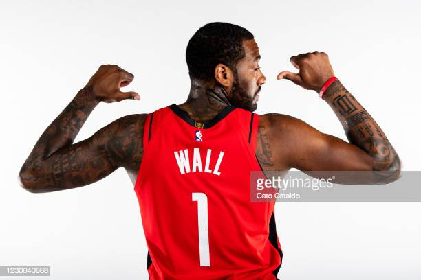 John Wall of the Houston Rockets poses for a portrait during Content Day at the Toyota Center on December 8, 2020 in Houston, Texas. NOTE TO USER:...