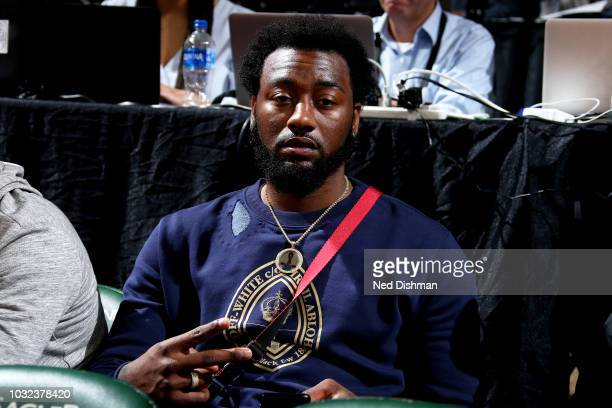 John Wall of the Washington Wizards is seen at the game between the Washington Mystics and the Seattle Storm during Game Three of the 2018 WNBA...
