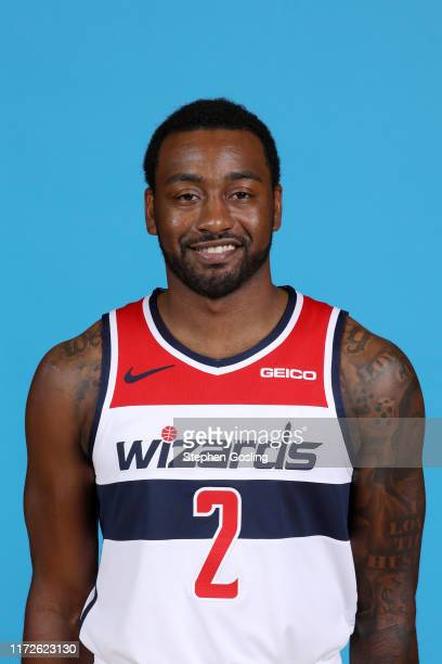 John Wall of the Washington Wizards poses for a head shot during media day on September 30, 2019 at the Washington Wizards Practice Facility in...
