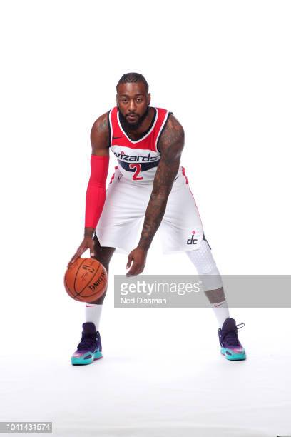 John Wall of the Washington Wizards poses for a portrait during media day at the Entertainment and Sports Arena at St. Elizabeth's on September 24,...