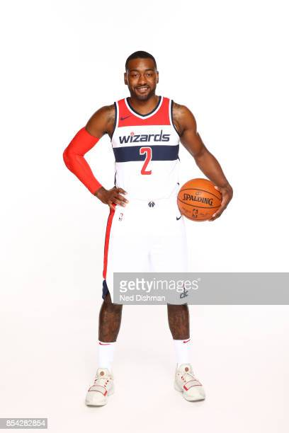 John Wall of the Washington Wizards poses for a portrait during Media Day on September 25, 2017 at Capital One Center in Washington DC. NOTE TO USER:...