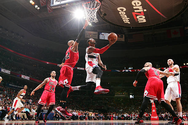 John Wall of the Washington Wizards vs. Bulls.