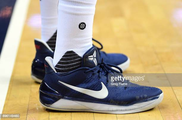 John Wall of the Washington Wizards wears Nike shoes against the Boston Celtics in Game Three of the Eastern Conference Semifinals at Verizon Center...