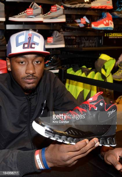 John Wall poses for a photo during the Reebok's Launch of John Wall's Season 3 Zig Escape at Footlocker at The Mall at Prince George's on October 18,...