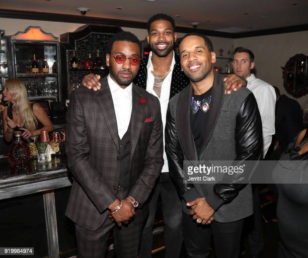John Wall Tristan Thompson and Maverick Carter attend the Klutch Sports Group More Than A Game Dinner Presented by Remy Martin at Beauty Essex on...