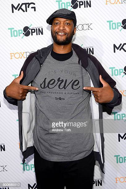 John Wallace attends the 7th Annual New York City TopSpin Charity Event at Metropolitan Pavilion on December 9 2015 in New York City