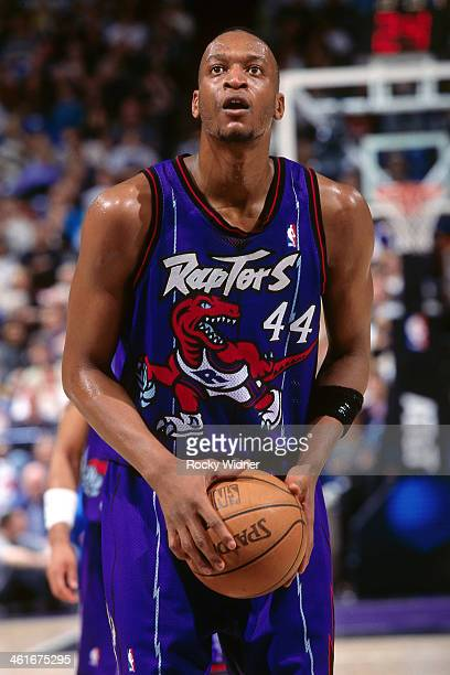 John Wallace of the Toronto Raptors shoots the ball during a game played on January 30 1996 at Arco Arena in Sacramento California NOTE TO USER User...