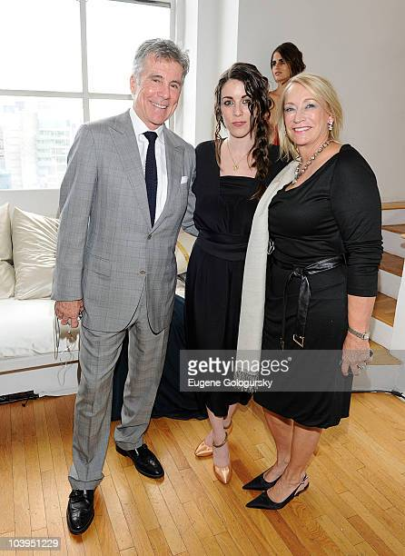 John Walsh Meghan Walsh and Reve Walsh attends the Meghan Walsh BlankSilk Spring 2011 presentation during MercedesBenz Fashion Week at the WestBeth...