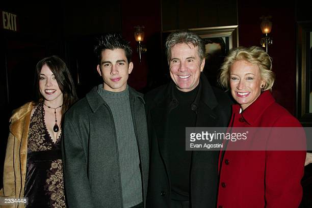 John Walsh with daughter Meghan son Callahan and wife Reve attending the New York Premiere of 'Two Weeks Notice' at The Ziegfeld Theatre New York...