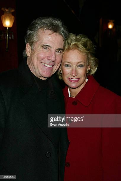 John Walsh with wife Reve attending the New York Premiere of Two Weeks Notice at The Ziegfeld Theatre New York City December 12 2002 Photo by Evan...