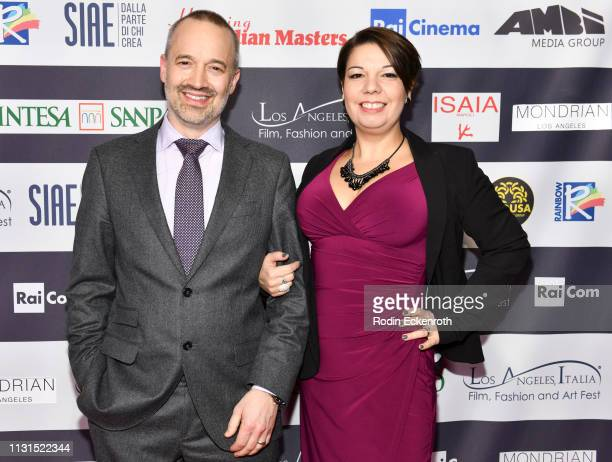 John Warhurst and Nina Hartstone attend the 14th Annual Los Angeles Italia Film Fashion and Art Fest Closing Night Gala at TCL Chinese 6 Theatres on...