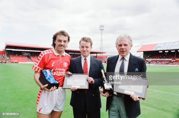 John Wark, Middlesbrough FC Player, receives Man of the Match Award at Ayresome Park, 8th September 1990.