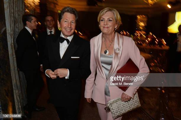 John Warren and Lady Madeleine Lloyd Webber attend the 2018 Cartier Racing Awards at The Dorchester on November 13 2018 in London England