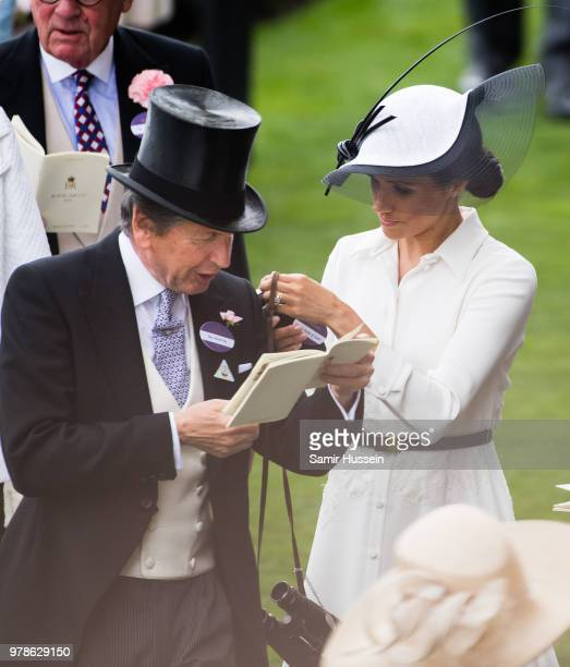 John Warren and Meghan Duchess of Sussex attend Royal Ascot Day 1 at Ascot Racecourse on June 19 2018 in Ascot United Kingdom