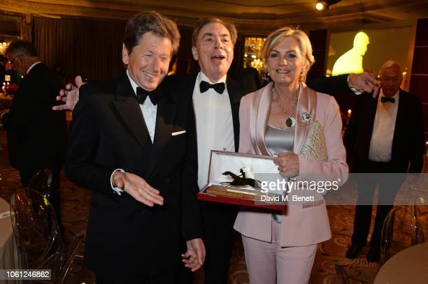 John Warren Lord Andrew Lloyd Webber and Lady Madeleine Lloyd Webber attend the 2018 Cartier Racing Awards at The Dorchester on November 13 2018 in...