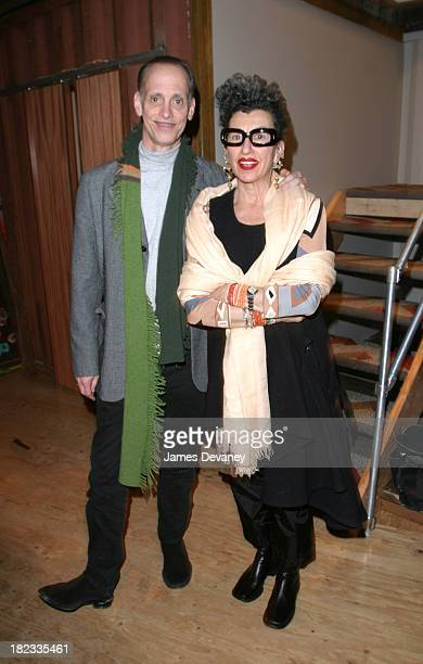 John Waters and Henny Garfunkel during Paper Magazine VIP Party With Tilda Swinton at 18 Wooster St in New York City New York United States