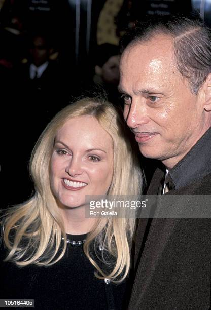"John Waters and Patty Hearst during Premiere of ""Sweet & Lowdown"" at Walter Reade Theater in New York City, NY, United States."