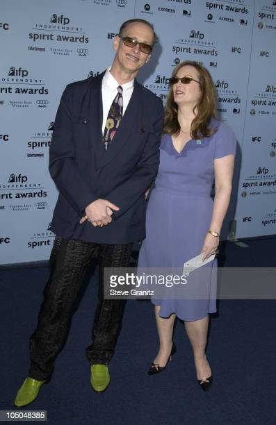 John Waters and Patty Hearst during The 18th Annual IFP Independent Spirit Awards - Arrivals at Santa Monica Beach in Santa Monica, California,...