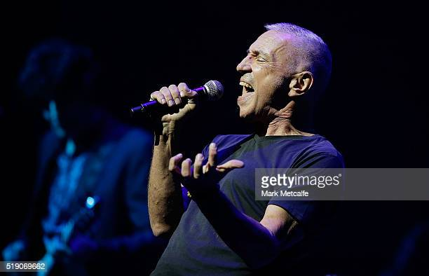 John Waters performs during a public memorial service for Jon English at Capitol Theatre on April 4 2016 in Sydney Australia The singer songwriter...